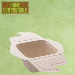 Sabert Home Compostable BePulp Meal Box To Go 500ml 13x13x7cm