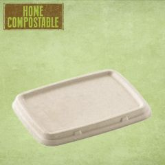 Sabert Home Compostable Pulp Lid 16x23cm (for 600 & 950ml BePulp Rectangular Containers)