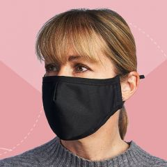 Reusable Black Cloth Mask With Filters