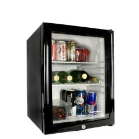 Frostbite Black Mini Bar Fridge with Glass Door 35 Litre 405x440x540mm
