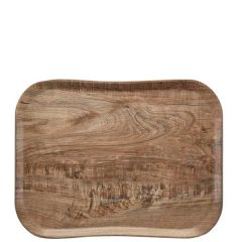 "Cambro Light Olive Versa Century Wood Grain Tray 13x17"" / 33x43cm"