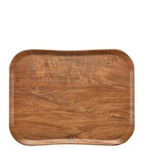 "Cambro Brown Olive Versa Century Wood Grain Tray 13x17"" / 33x43cm"