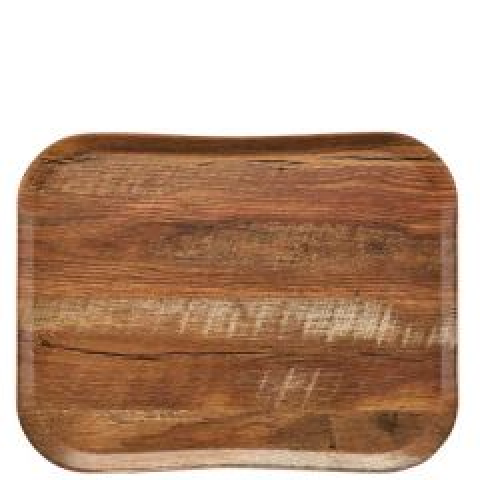 "Cambro Brown Oak Versa Century Wood Grain Tray 14x18"" / 36x46cm"