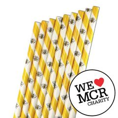 """The Manchester Bee Paper Sip Straw 5mm Bore 5.5"""" / 14cm"""