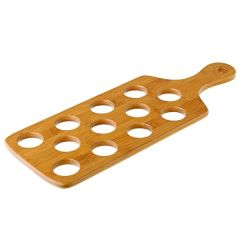 "Bamboo Shot Paddle to Hold 12 Shots 16x6"" / 40x15.5cm"