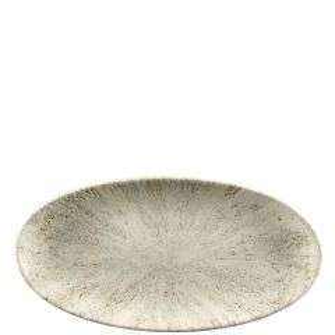 Churchill Studio Prints Stone Agate Grey Chefs' Oval Plate 11.75x5.875 / 29.9x15cm