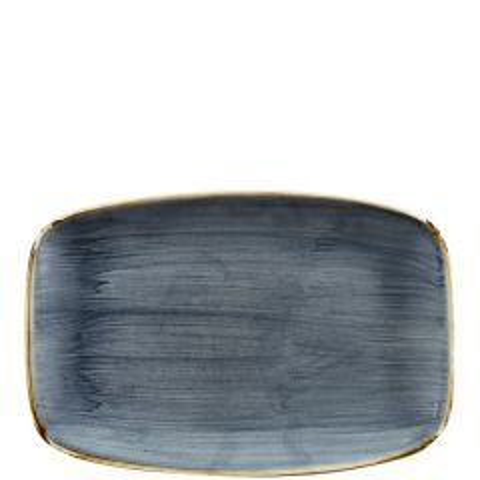 "Churchill Stonecast Blueberry Chefs' Oblong Plate No.8, 12x7.8"" / 30x19.9cm"