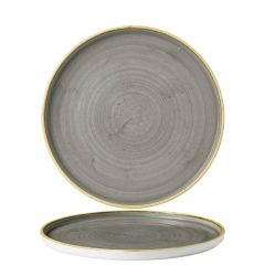 """Churchill Stonecast Peppercorn Grey Chefs' Walled Plate 8.25"""" / 21cm"""