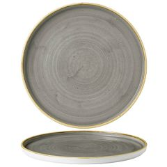 """Churchill Stonecast Peppercorn Grey Chefs' Walled Plate 10.25"""" / 26cm"""