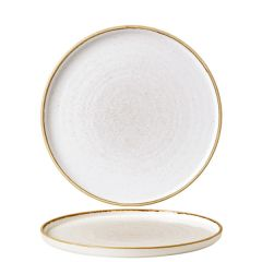 """Churchill Stonecast Barley White Chefs' Walled Plate 8.25"""" / 21cm"""