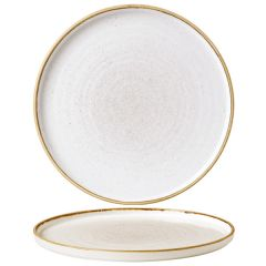 """Churchill Stonecast Barley White Chefs' Walled Plate 10.25"""" / 26cm"""