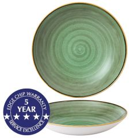"Churchill Stonecast Samphire Green Coupe Bowl 12"" / 31cm"