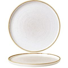 """Churchill Stonecast Barley White Chefs' Walled Plate 10.75"""" / 27.5cm"""