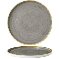 """Churchill Stonecast Peppercorn Grey Chefs' Walled Plate 10.75"""" / 27.5cm"""