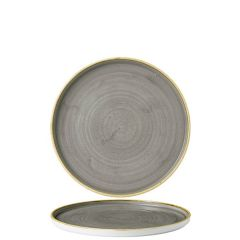 """Churchill Stonecast Peppercorn Grey Chefs' Walled Plate 6.125"""" / 15.7cm"""
