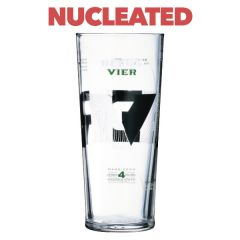 Becks Vier Toughened Branded Pint Glass CE Nucleated 20oz / 57cl