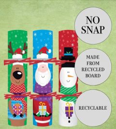 """Tom Smith Recyclable Childrens Christmas Cracker Mixed Box 7"""" / 18cm"""