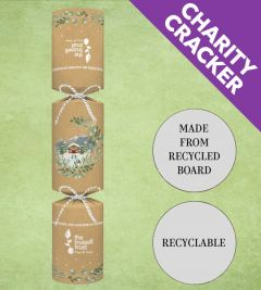 """Tom Smith Recyclable Kraft Eco-Charity Winter Bless Christmas Cracker 14"""" / 35.5cm"""