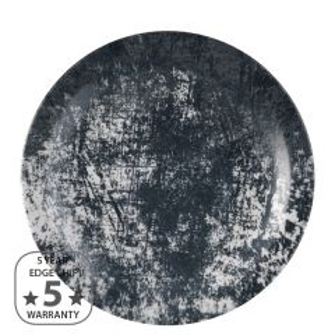 "Dudson Urban Lamp Black Narrow Rim Plate 11"" / 28cm"