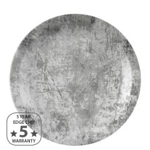 """Dudson Urban Steel Grey Narrow Rim Plate 11"""" / 28cm"""