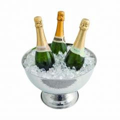 """Signature Bollate Single Walled Wine Cooler Hammered Finish 13""""/33cm Diameter"""