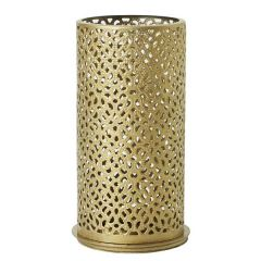 Duni Bliss Gold Metal Tealight / LED Candle Holder 14x7.5cm
