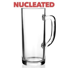 Toughened Donau 'Pint to Brim' Handled Glass Stein Nucleated CE 20oz / 57cl