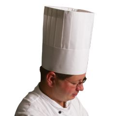 Disposable Chefs Classic Embossed Hat 30cm Tall