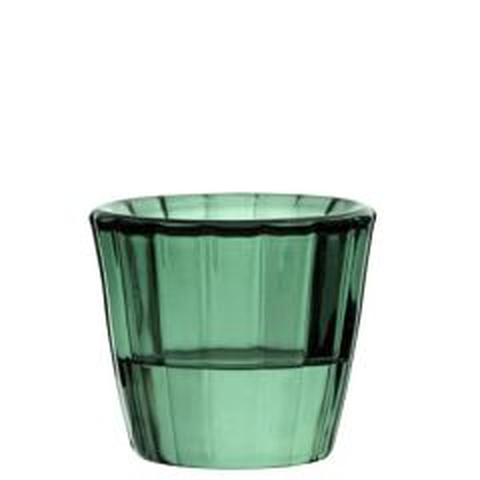 "Green Ribbed Glass Nightlight Holder 2.2"" / 5.5cm"