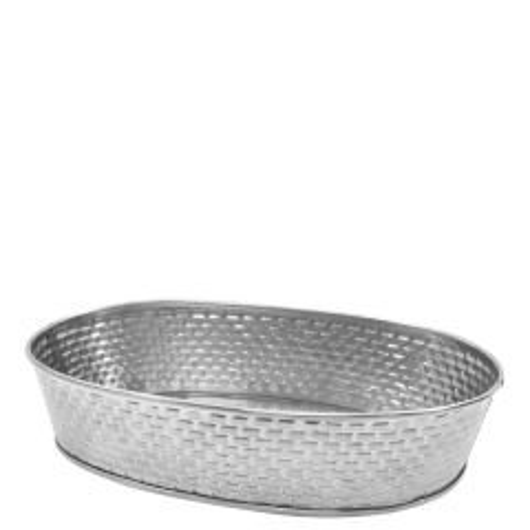 "Brickhouse Stainless Steel Oval Platter 12.2x8.7"" / 31x22cm"