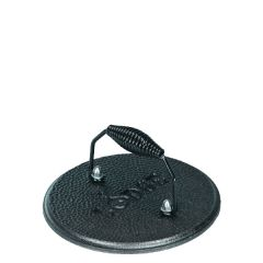 "Lodge Cast Iron Round Grill Press with Wire Handle 7.5"" Diameter"