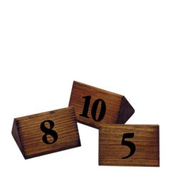 Wooden Table Numbers 1-10