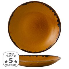 "Dudson Harvest Brown Deep Coupe Plate 11"" / 28.1cm"