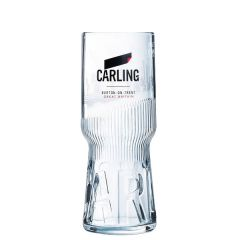 Carling Branded Toughened & Nucleated Pint Beer Glass CE 20oz / 57cl