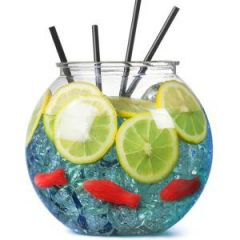 Clear Acrylic Plastic Cocktail Fish bowl 105.5oz / 3Ltr
