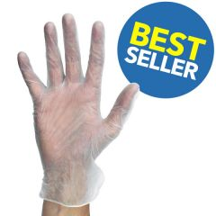 Disposable Clear Powder Free Vinyl Gloves Large