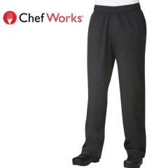 "Chef Works Cool Vent Baggy Pants Black Medium 34""-36"""