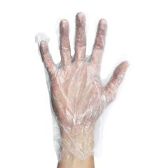 Disposable Medium Clear Polythene Gloves