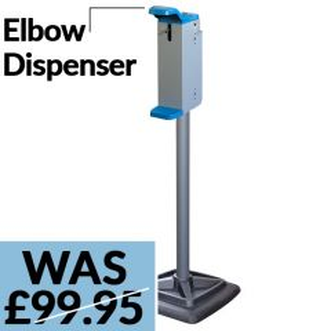 Steel Column Hand Soap / Sanitiser Station with Elbow Dispenser