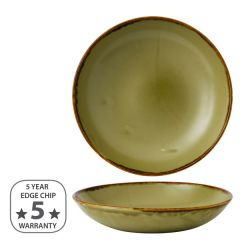 """Dudson Harvest Green Coupe Bowl 9.75"""" / 24.8cm"""