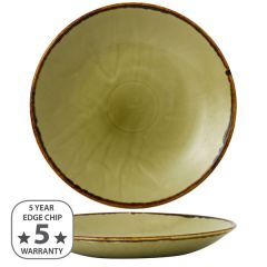 """Dudson Harvest Green Deep Coupe Plate 11"""" / 28.1cm"""