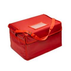 "Red Nylon Hot & Cold Food Delivery Bag 17x17x13"" / 43x43x33cm"