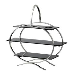 Stainless Steel Cake Stand with 3 Acrylic Inserts