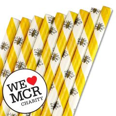 """The Manchester Bee Paper Straw 6mm Bore 8"""" / 20cm"""