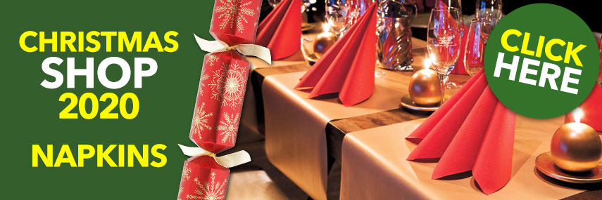 Christmas Catering Napkins from Stephensons Catering Suppliers