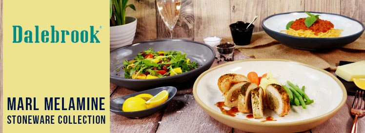 Dalebrook Marl Stoneware Melamine Collection