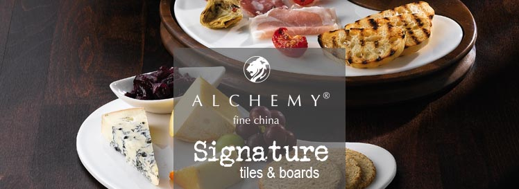 alchemy signature tiles and wooden boards