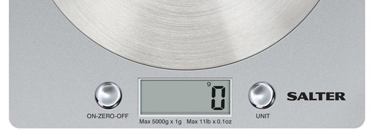 Salter Block Disc Kitchen Scale Silver