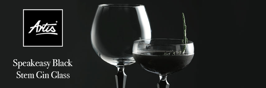 Artis Speakeasy Black Stem Gin Cocktail Glass