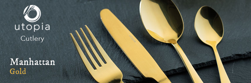 Utopia Manhattan Gold Cutlery 18/0